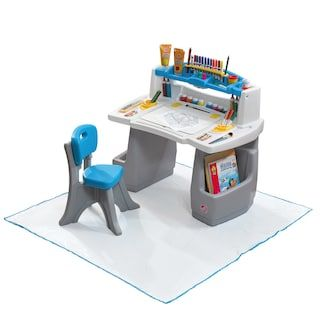 Step2 Deluxe Art Desk With Splat Mat Baby Products Pinterest