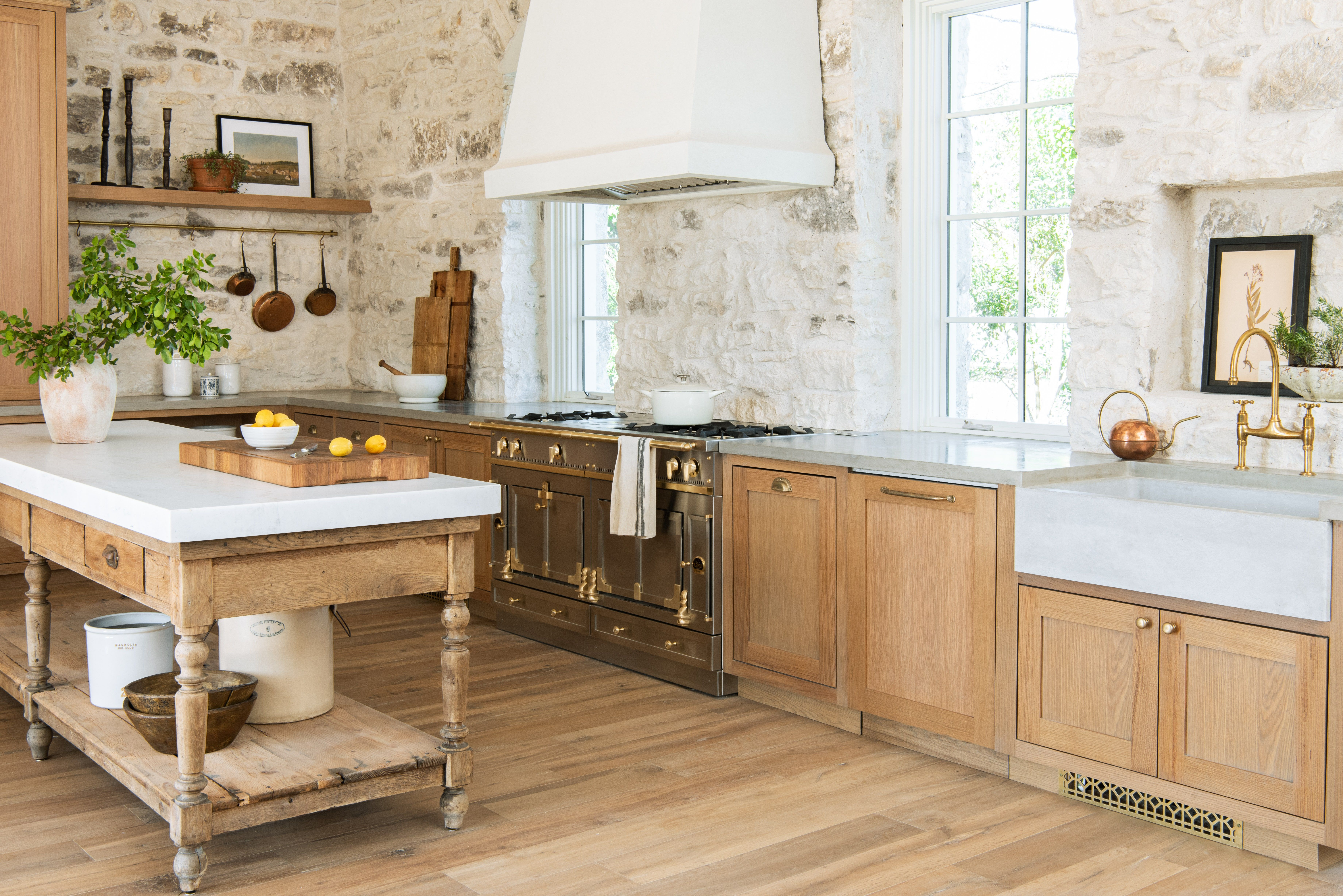 Joanna Gaines Shows Off The Set Of Her Future Cooking Show European Farmhouse Kitchen Joanna Gaines Kitchen Kitchen Remodel