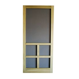 Screen Tight Summit Natural Wood Hinged Cross Bar Screen Door Common 36 In X 81 In Actual 36 In X 80 In Wood Screen Door Screen Door Wood Hinges