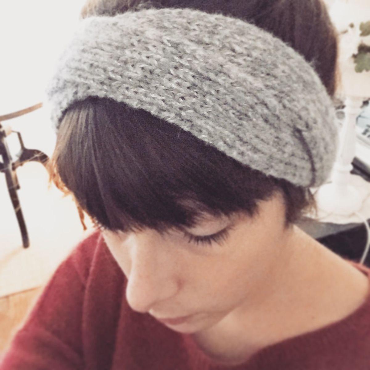 modele de bandeau a tricoter