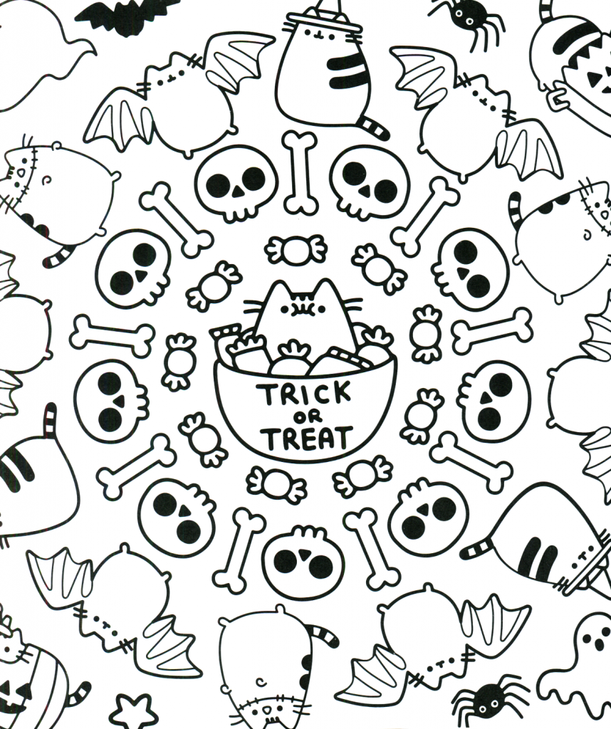 Cute Halloween Coloring Pages Best Coloring Pages For Kids Pusheen Coloring Pages Halloween Coloring Halloween Coloring Pages