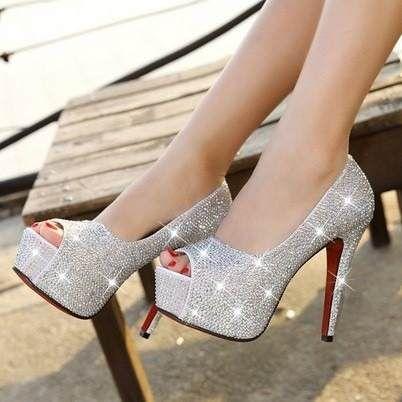 c40338389 sapato peep toe cristal de noiva e festas importado | moda | Sapatos ...