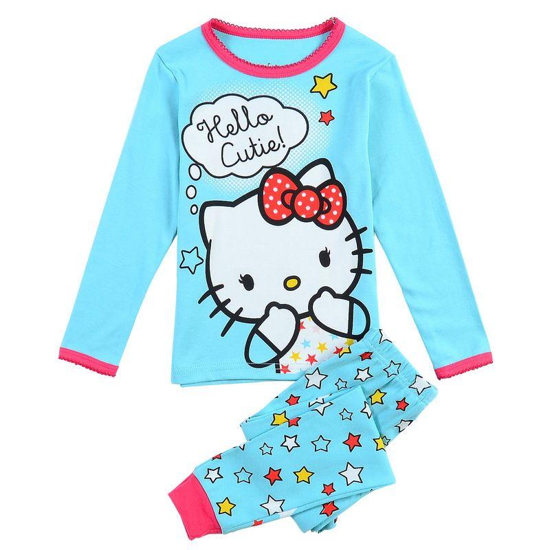 47dcc3ef5 Click to Buy << Pijama Infantil Kids Girls Hello Kitty Pajamas Set Autumn Nightwear  Cartoon 2-7Y Children Pyjamas Set Toddler Sleepwear Clothes #Affiliate