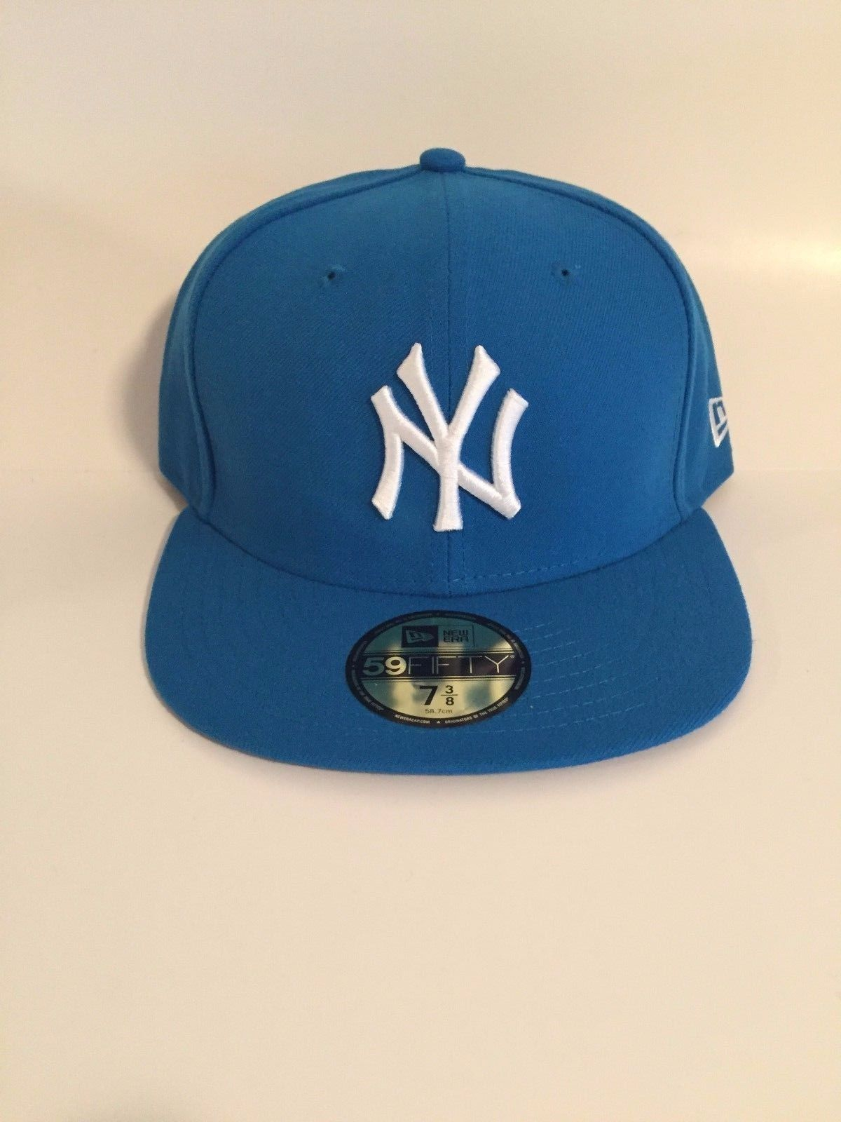 44ac02b63e4 Official MLB New York Yankees Men Cap New Era 59Fifty Blue White Fitted Cap