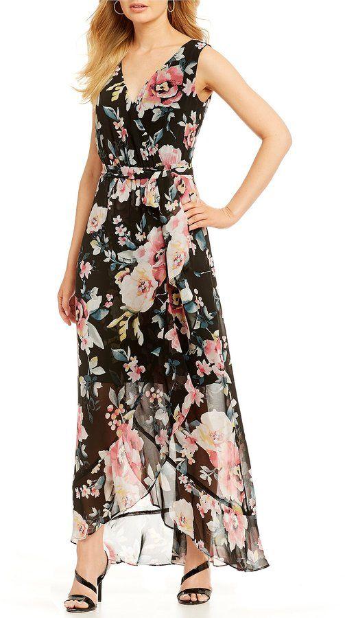 af40a4574f6 Sangria Floral Maxi Dress Sangria