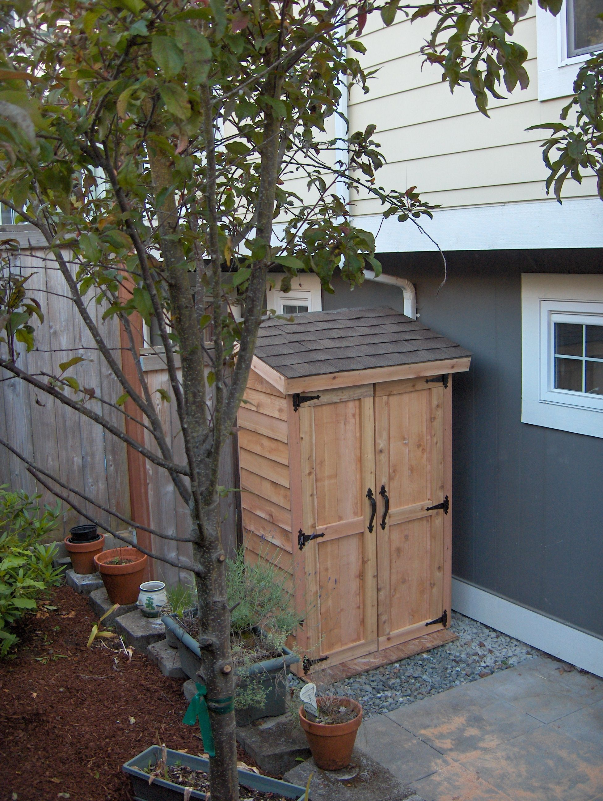 mini cedar storage shed do it yourself home projects from ana