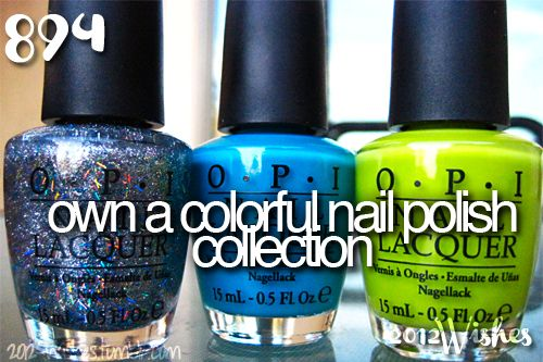 own a colorful nail polish collection