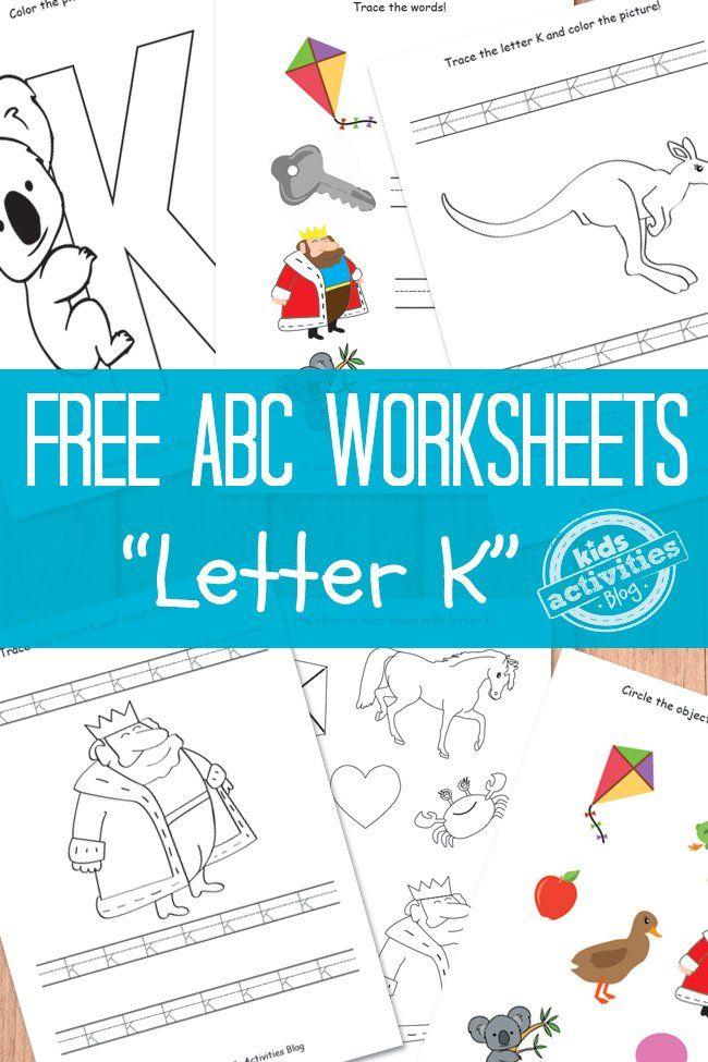 LETTER K WORKSHEETS FREE KIDS PRINTABLE | Worksheets, Learning ...