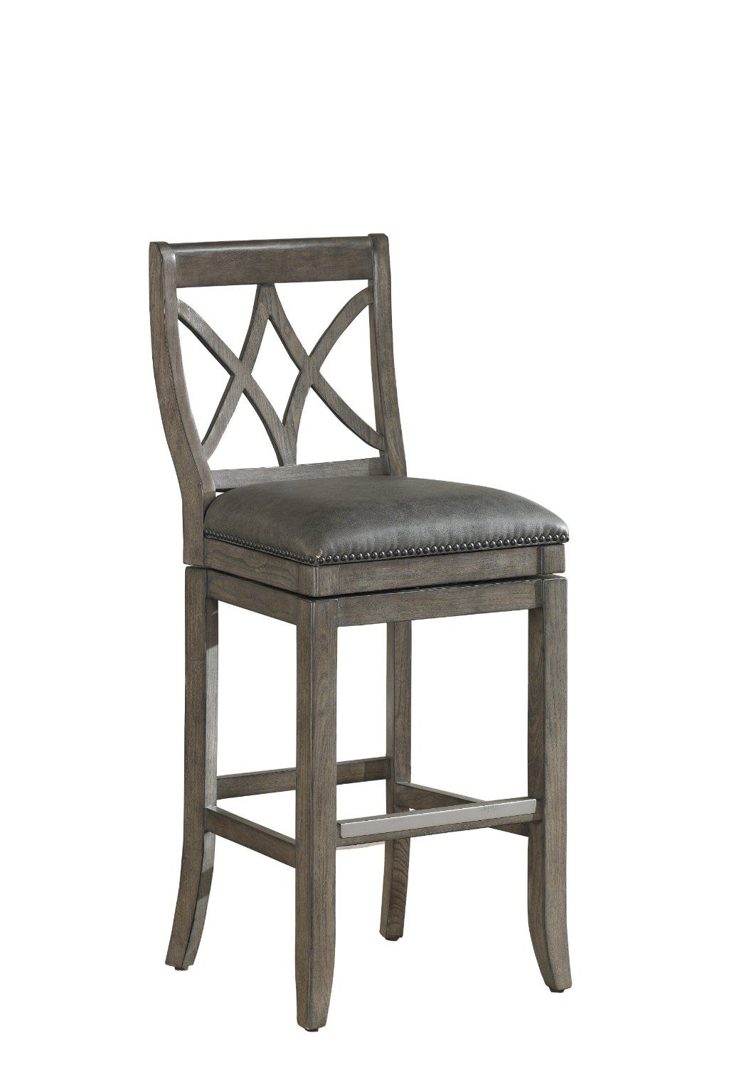 tailored to perfection this graceful american heritage billiards hadley bar stool is sure to enhance your space