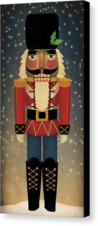 Nutcracker Canvas Print Canvas Art By Ryan Fowler Christmas Paintings Christmas Wood Nutcracker Crafts