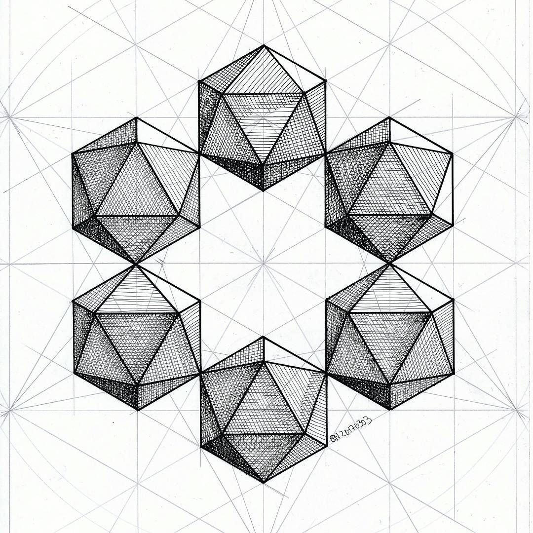 Polyhedron Solid Geometry Symmetry Pattern Hexagon