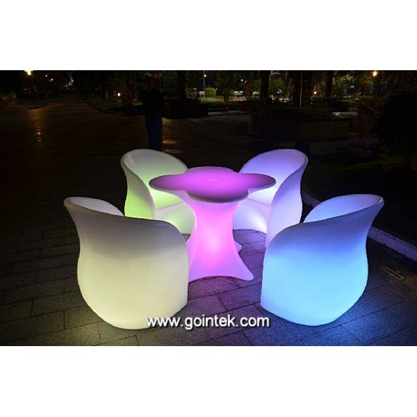 Glowing Outdoor Furniture Led Patio Chair Patio Chairs