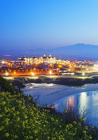 Coastal Scenery At Gimnyeong Seongsegi Beach Resort Jeju Island South Korea Asia