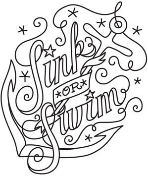 Sink Or Swim Image Love Coloring Pages Free Adult Coloring Pages