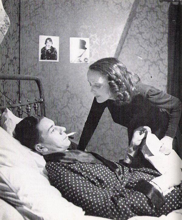 """Edith Piaf et Paul Meurisse dans """"Le Bel Indifférent"""" de Jean Cocteau 1940"""