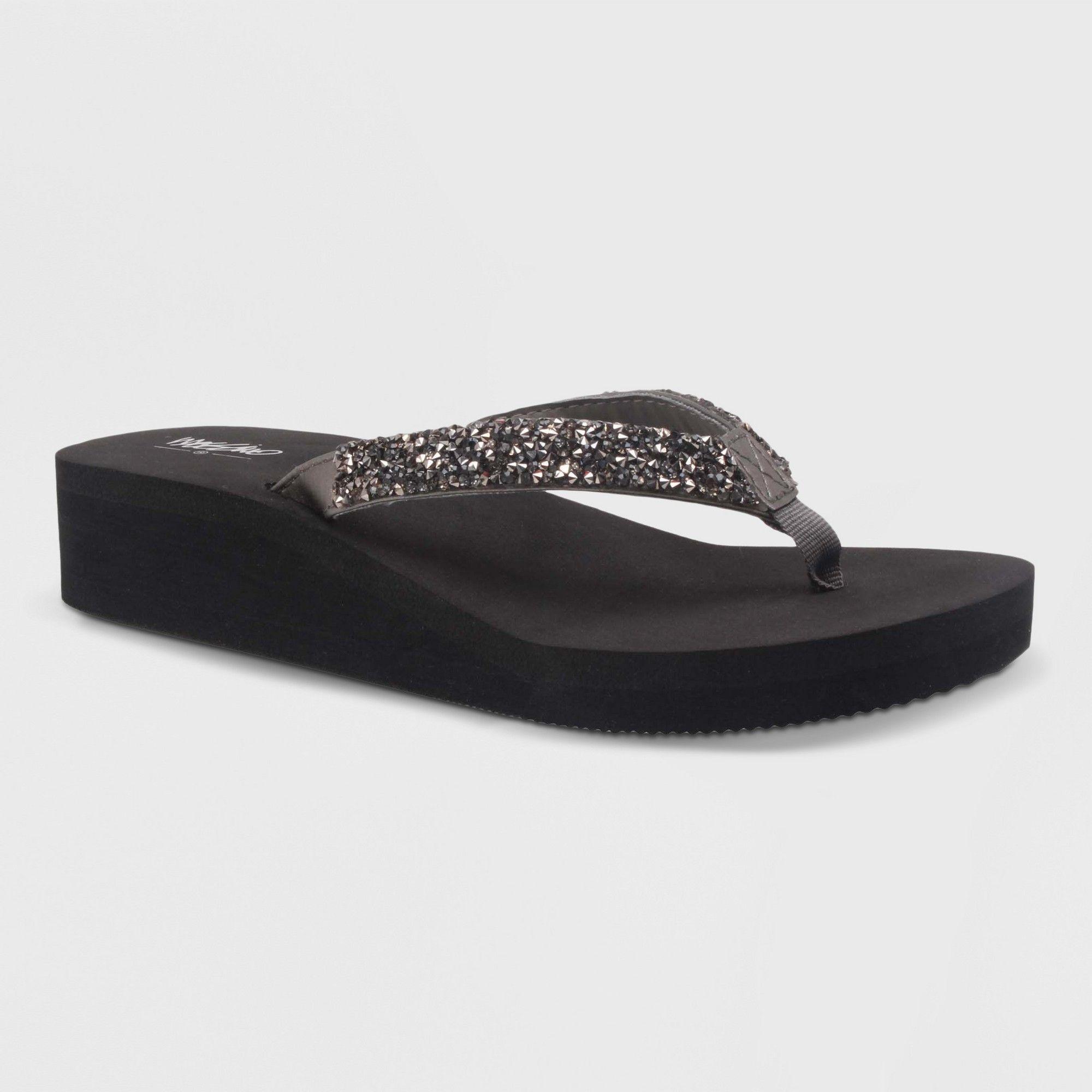 96bb6237711 Women s Lannette Flip Flop Sandals - Mossimo Silver 11