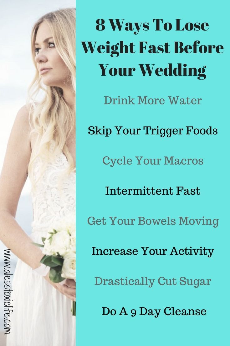 9 Easy Things To Do To Lose Weight Fast - | Wedding weight loss ...
