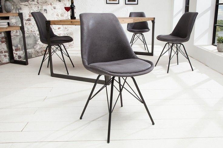 Retro Stuhl Scandinavia Meisterstuck Antik Grau Designklassiker Skandinavischer Wohnstil Grauer Stuhl Esstisch Stuhle Grau Mobelideen