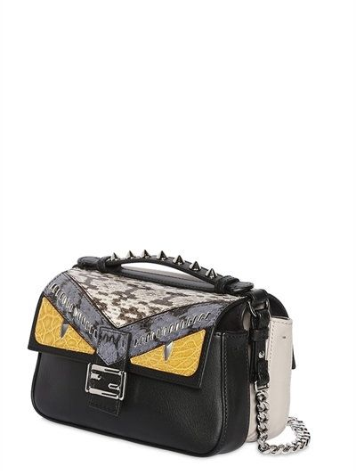 0178937c48 FENDI - MICRO BAGUETTE DOUBLE LEATHER BAG - LUISAVIAROMA - LUXURY SHOPPING  WORLDWIDE SHIPPING - FLORENCE