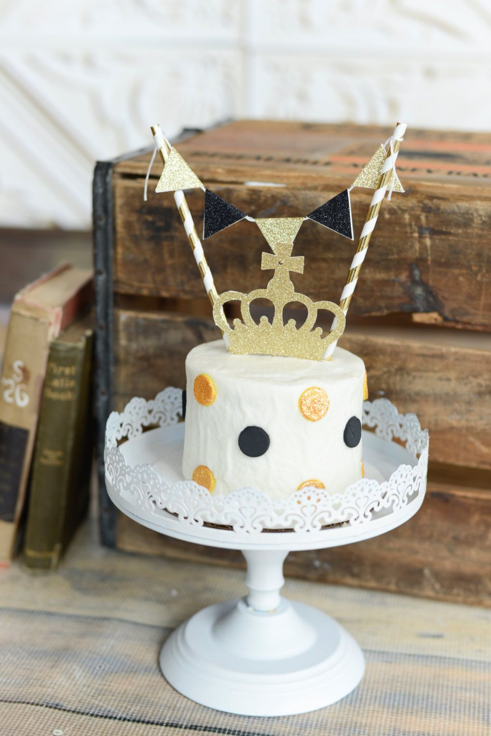 Crown Cake Topper, little prince cake topper, prince cake