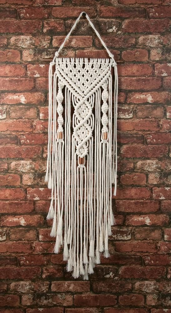 Make Rame Kit Double Twist Macrame Wall Hanger Macrame Design Macrame Patterns Tutorials