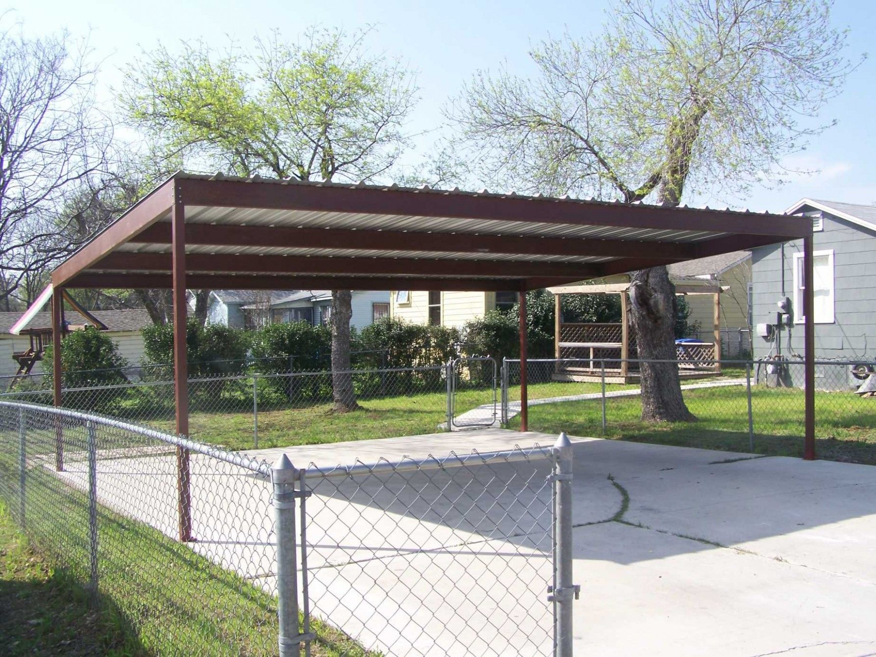 Nature of a metal carport Carport designs, Metal
