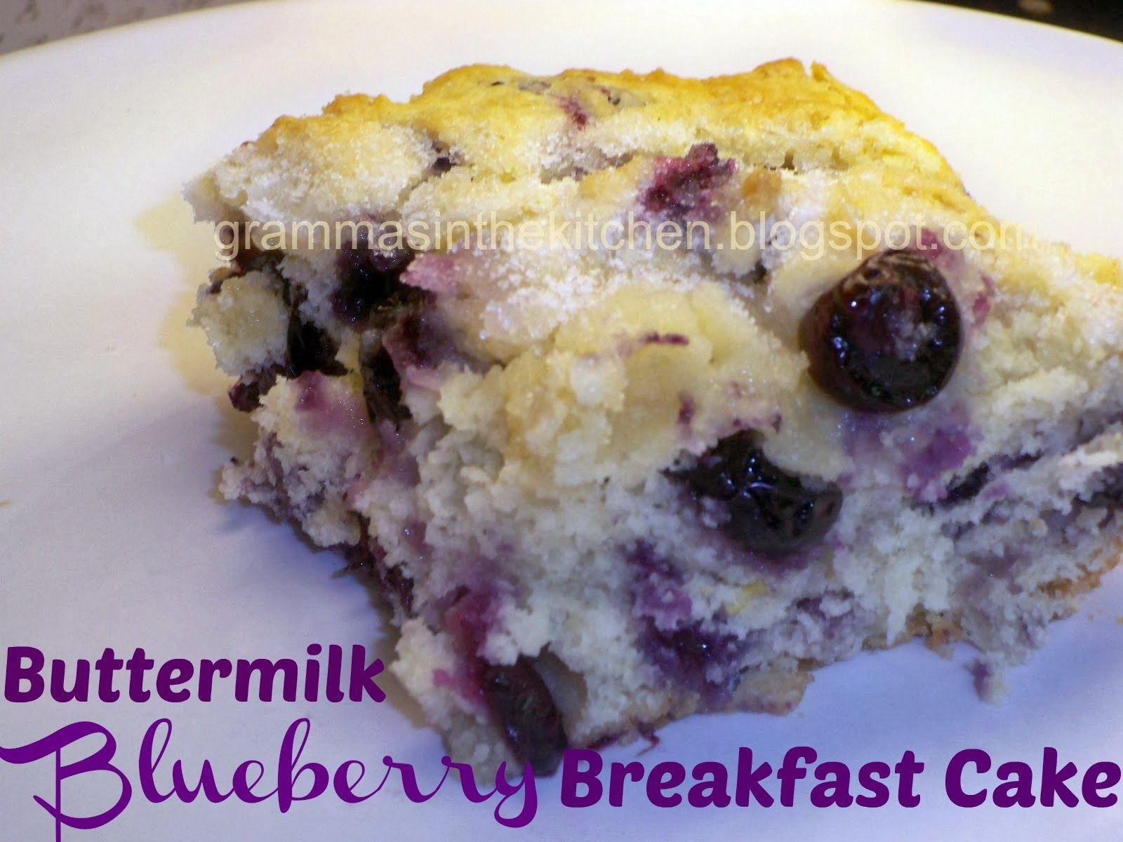 Buttermilk-Blueberry Breakfast Cake #buttermilkblueberrybreakfastcake