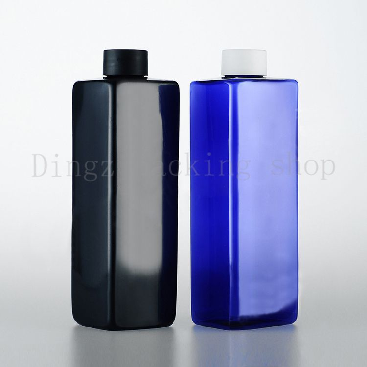 d0b5962df0f2 wholesale 500ml square empty plastic cosmetic bottles containers ...