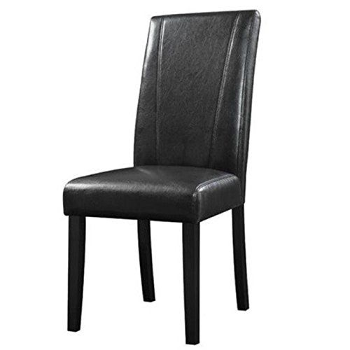 Darby Home Co Cecil Parsons Chairs Upholstery Type   Color:  Leatherette Black
