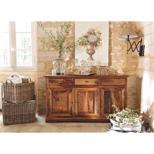 Buffet en bois luberon maisons du monde nos ind modables pinterest pl - Pinterest maison du monde ...