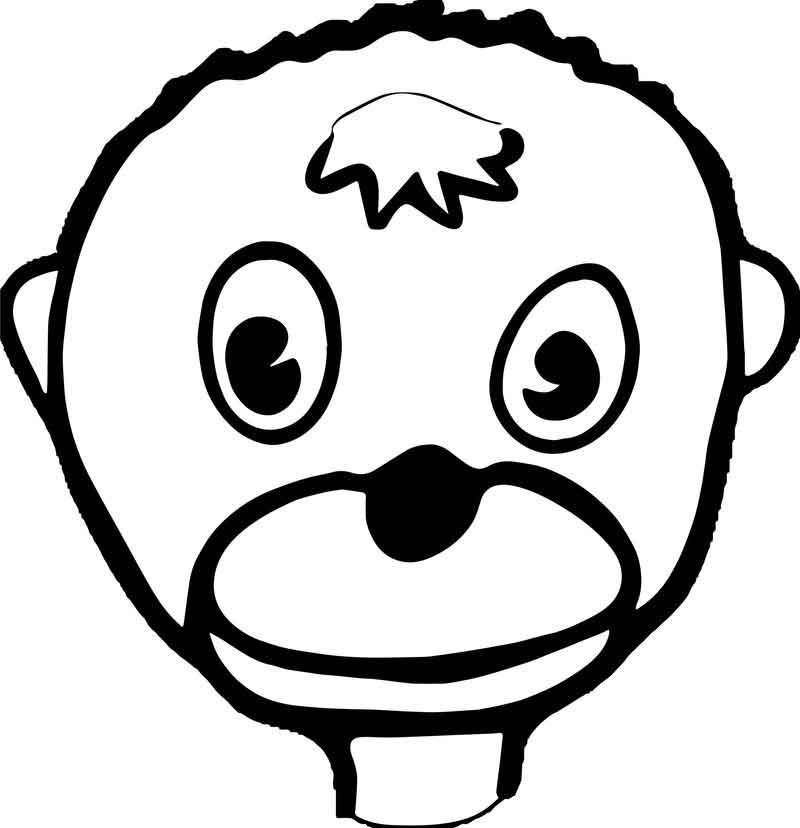 Cartoon Monkey Face Baboon Coloring Page Cartoon Monkey Baboon