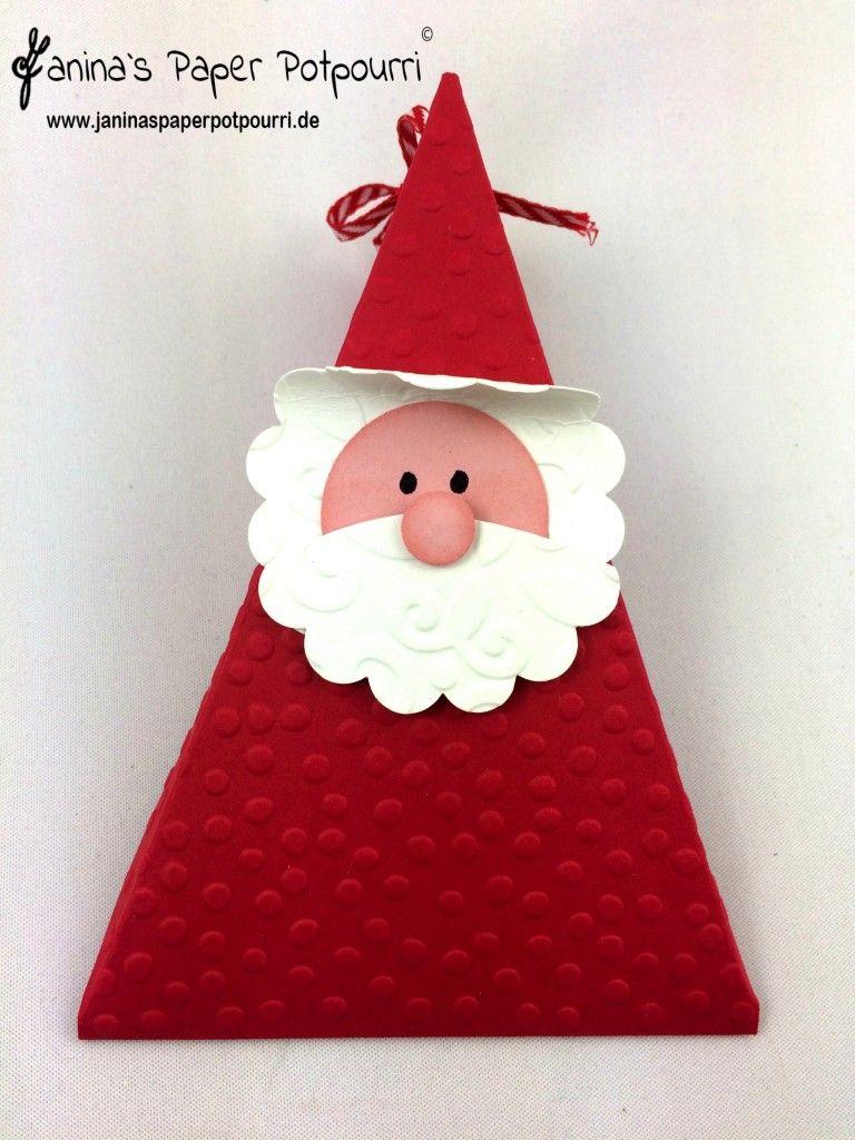 jpp santa triangle box weihnachtsmann verpackung. Black Bedroom Furniture Sets. Home Design Ideas
