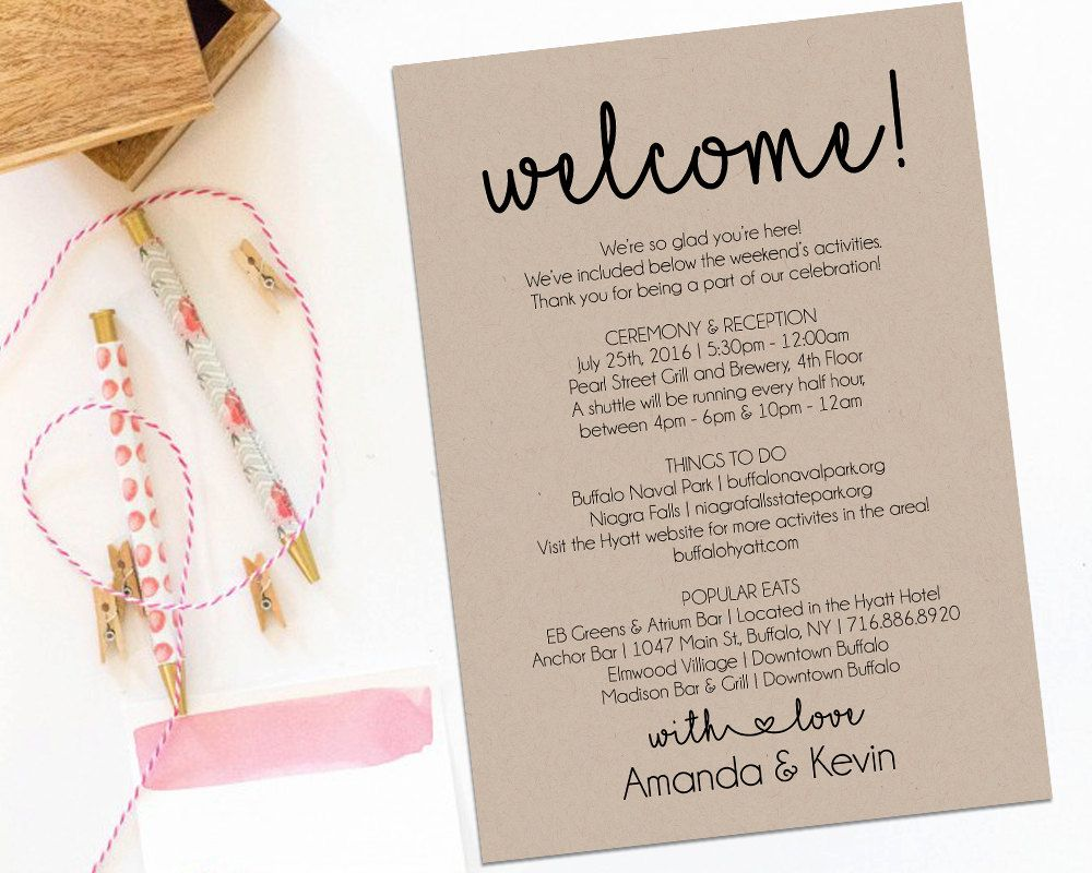Image result for wedding welcome bag itinerary wedding welcome welcome letter wedding itinerary printable by amodernsoiree spiritdancerdesigns Image collections