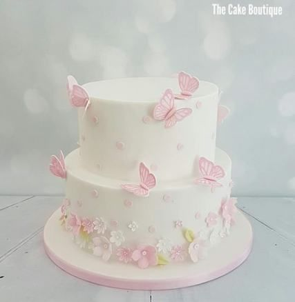 56+ ideas birthday cake girls kids flowers -   15 christening cake Girl ideas