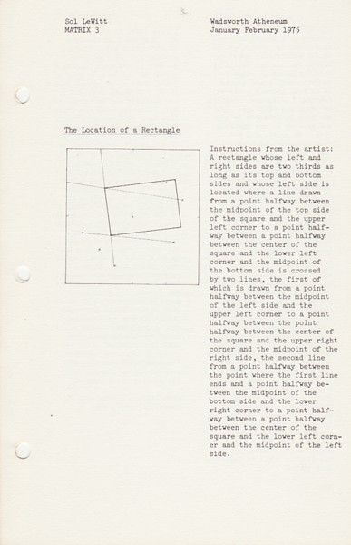 maihudson: Sol Lewitt, Matrix 3, 1975