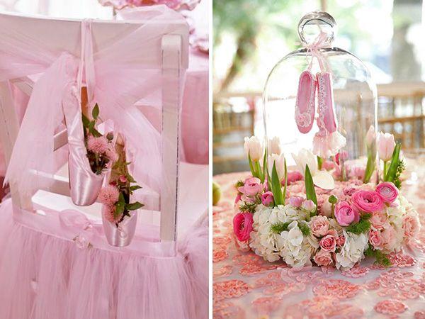 Rosado cl sico para la decoraci n 2 f bailarinas for Mesas y sillas para 15 anos