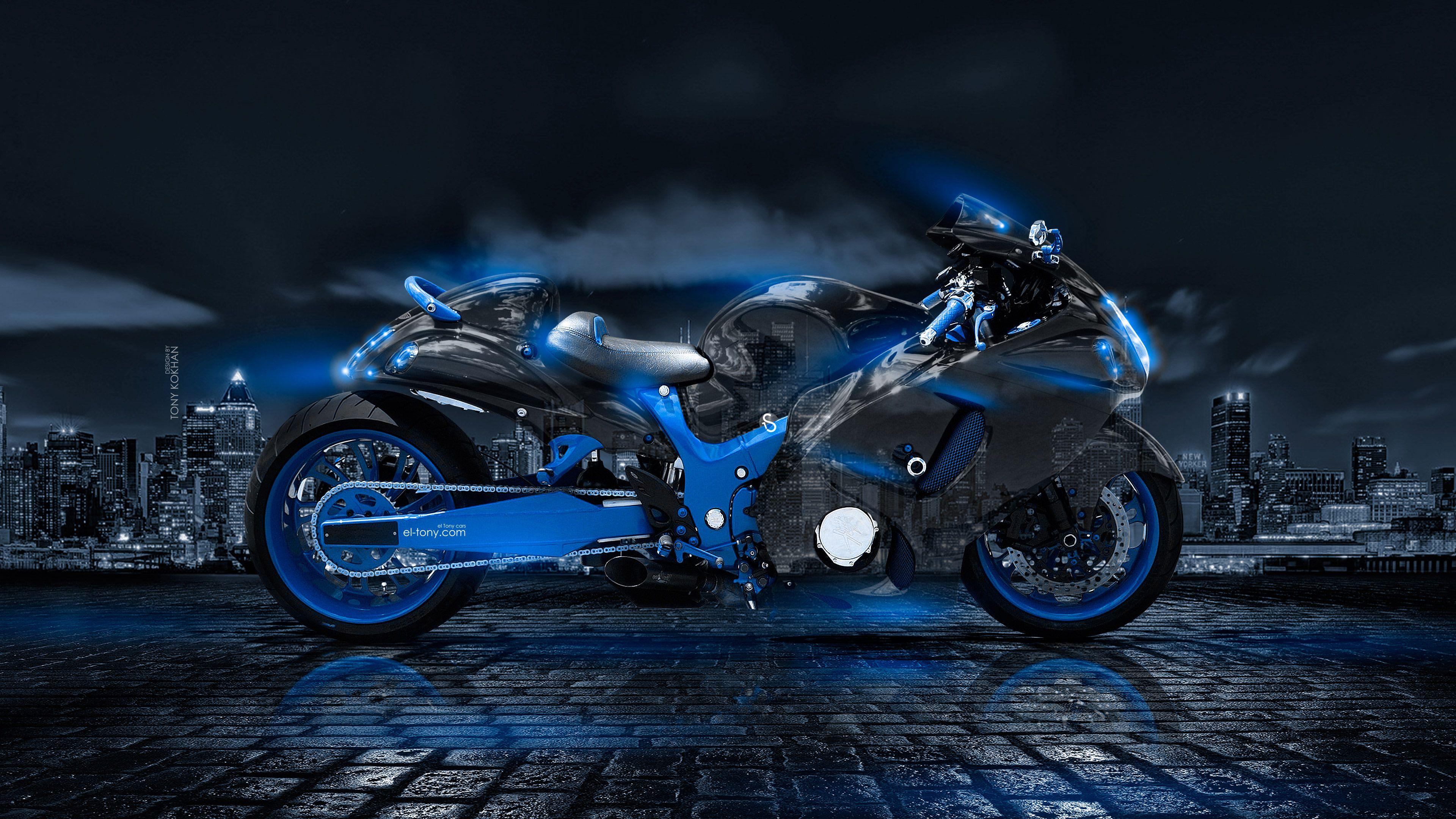 Superb 2018, Bike, Black, Blue, City, Crystal, El Tony Cars,