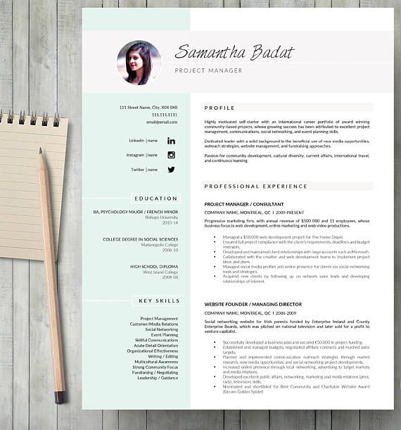 Professional Resume Template Resume Template for Word Resume