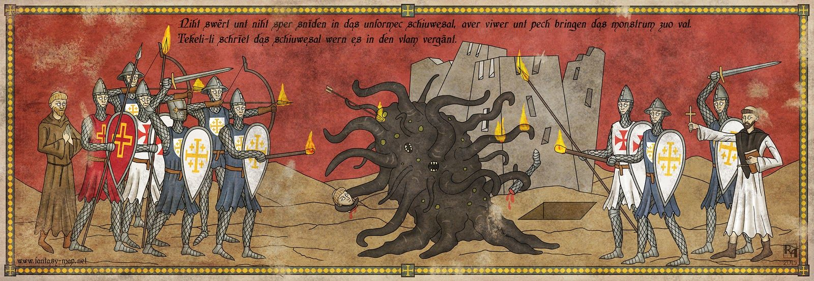 Robert+Altbauer+Medieval+Shoggoth+Illustration.jpg (1600×553)