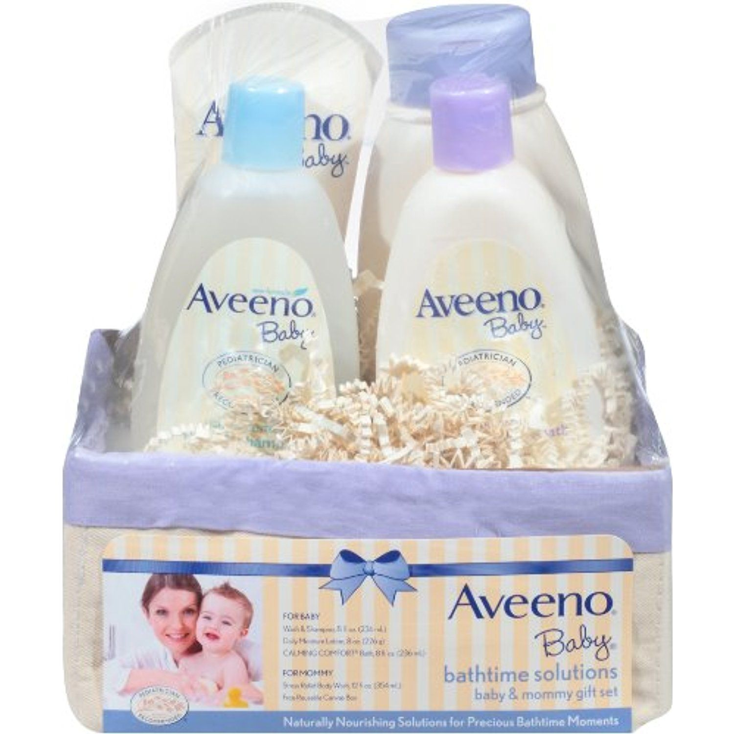 Aveeno Baby Daily Bath Time Solutions Gift Set To Prevent Dry Skin ...