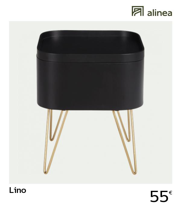 Canapé Noir Avec De Alineadecoration Pieds Lino Rangeant Bout 5Lc4SRj3qA