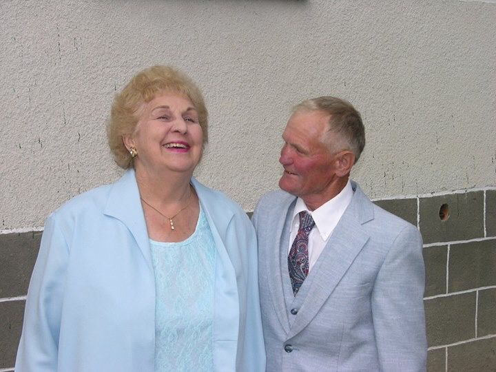 Mary and her cousin Ivan in the Ukraine. (2006)