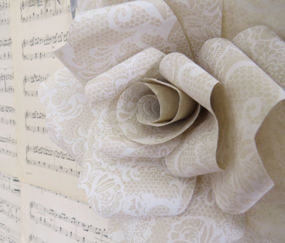 FAERIE LACE paper wall rose - wall decor wall art paper sculpture - Flower Taxidermy No.53