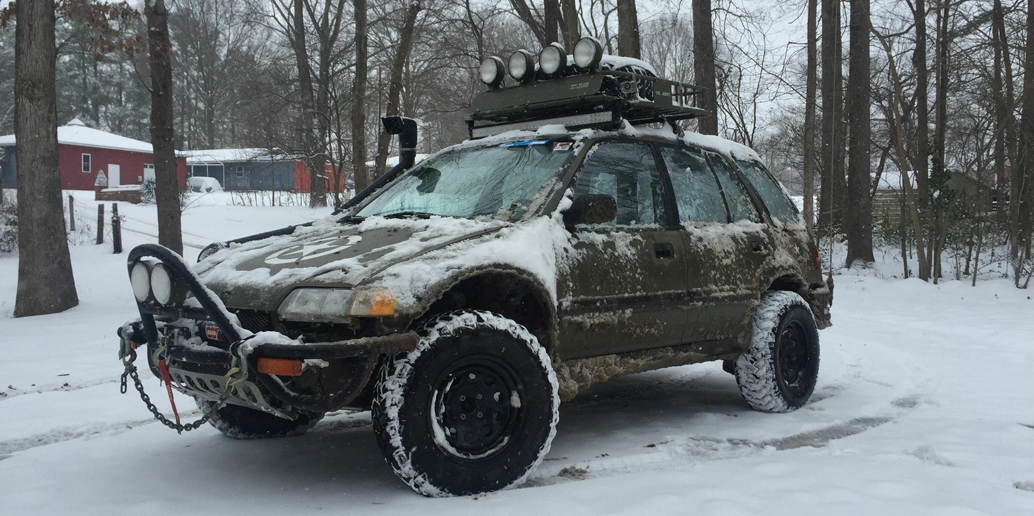 The War Wagon Is A Lifted Honda Civic 4x4