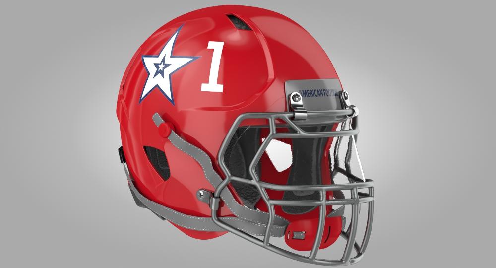 3d Red Football Helmet Turbosquid 1455719 Football Helmets Football Helmet