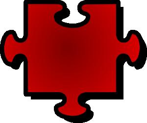 Jigsaw Red Puzzle Piece 1 Clip Art Vector Clip Art Online Royalty Free Public Domain Puzzle Piece Template Puzzle Pieces Autism Puzzle Piece