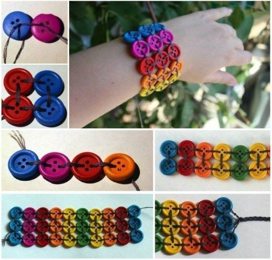 How To Make A Gorgeous Button Bracelet | The WHOot