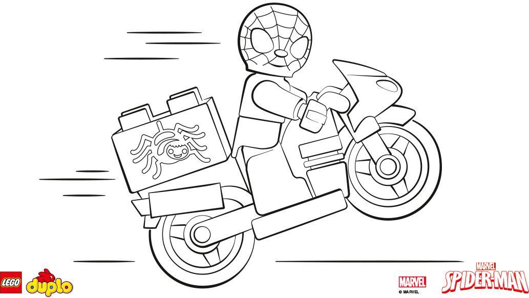 Kleurplaten Spiderman Lego.Lego Duplo Spider Man Kleurplaat Lego Kleurplaten En