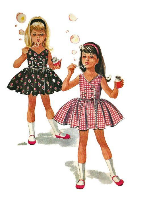 vintage helen lee sewing patterns | Vintage 60s McCalls 6348 Easy Double Breasted Girls Dress or Jumper ...
