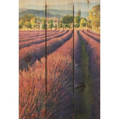 French Lavender Photographic Print On Wood Outdoor Wall Art Wooden Wall Art Lavender Walls